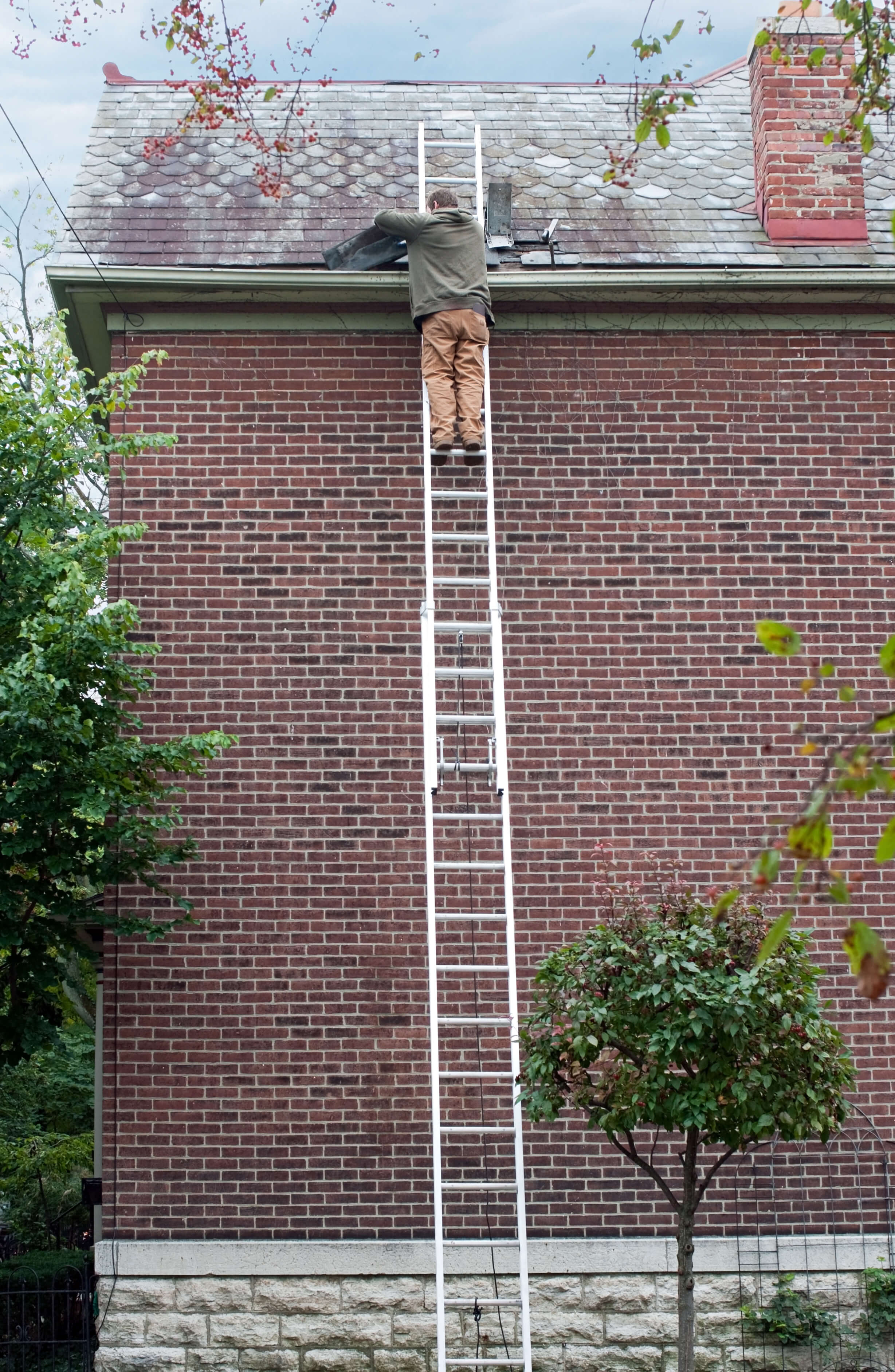 Falls from ladders a major cause of injury.